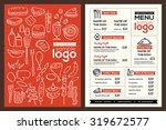modern restaurant menu cover... | Shutterstock .eps vector #319672577