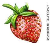 watercolor strawberry isolated...   Shutterstock . vector #319673474