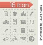 vector education icon set on... | Shutterstock .eps vector #319676081