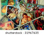 old postage stamps   Shutterstock . vector #31967635