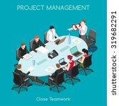 startup teamwork brainstorming... | Shutterstock . vector #319682291
