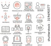 vector set of 16 icons related... | Shutterstock .eps vector #319690577