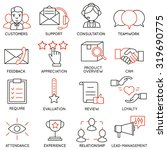vector set of 16 icons related... | Shutterstock .eps vector #319690775