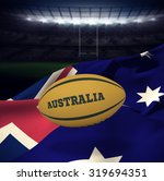 Australia Rugby Ball Against...