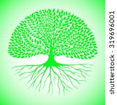 green tree with an extensive... | Shutterstock .eps vector #319696001