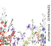 autumn wildflowers pattern | Shutterstock . vector #319696631