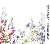 autumn wildflowers pattern | Shutterstock . vector #319696631