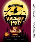halloween party. vector... | Shutterstock .eps vector #319697039