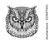zentangle stylized eagle owl... | Shutterstock .eps vector #319697441
