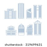 high rise buildings. edifice... | Shutterstock .eps vector #319699631