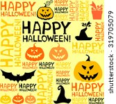 halloween background with bats... | Shutterstock .eps vector #319705079