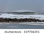 Long Sea Wave Approaching The...