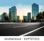 asphalt road high way with city ... | Shutterstock . vector #319707221