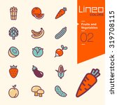 lineo colors   fruits and... | Shutterstock .eps vector #319708115