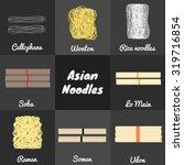 food set. asian noodles... | Shutterstock .eps vector #319716854