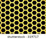 yellow hexagons    large size ... | Shutterstock . vector #319717