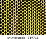 yellow hexagons    medium size  ... | Shutterstock . vector #319718