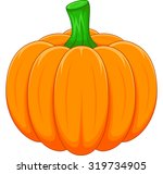 cartoon pumpkin | Shutterstock .eps vector #319734905