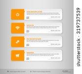 modern vector banners. design... | Shutterstock .eps vector #319737539
