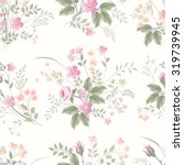 seamless pattern with meadow... | Shutterstock .eps vector #319739945