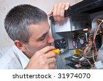 it engineer working | Shutterstock . vector #31974070