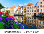 Old Buildings Along A Canal In...