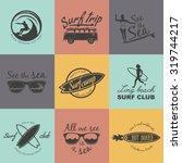 set of surf logo and emblem.... | Shutterstock .eps vector #319744217