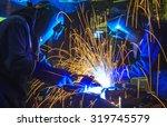 welder industrial automotive... | Shutterstock . vector #319745579