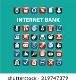 internet bank icons | Shutterstock .eps vector #319747379