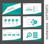 green multipurpose infographic... | Shutterstock .eps vector #319753571