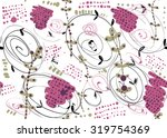 creative seamless pattern with... | Shutterstock .eps vector #319754369