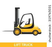 yellow small lift truck for... | Shutterstock .eps vector #319765031