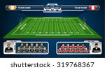 American Football Field With...