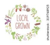 local grown vector concept.... | Shutterstock .eps vector #319768925