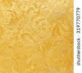 Golden Floral Ornament Brocade...