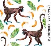 Monkey And Banana Seamless...