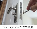 locksmith repair or install the ... | Shutterstock . vector #319789151