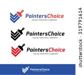 painters choice house paint... | Shutterstock .eps vector #319791614