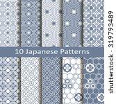 set of ten japanese patterns | Shutterstock .eps vector #319793489
