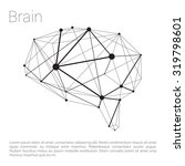 abstract polygonal line brain... | Shutterstock .eps vector #319798601
