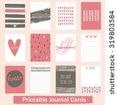 set of vintage creative cards... | Shutterstock .eps vector #319803584