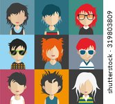 set of people icons in flat... | Shutterstock .eps vector #319803809