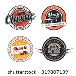 set of classic muscle car... | Shutterstock .eps vector #319807139