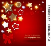 merry christmas postcard with... | Shutterstock .eps vector #319808819