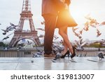 Couple Near Eiffel Tower In...