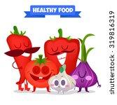 a set of cute vegetable.... | Shutterstock .eps vector #319816319