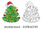 coloring book or page ... | Shutterstock .eps vector #319816745