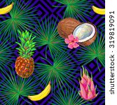 seamless tropical pattern with... | Shutterstock .eps vector #319819091