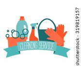 flat design logo for cleaning... | Shutterstock .eps vector #319819157