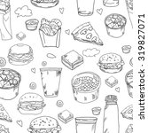 fast food delicious hand drawn... | Shutterstock .eps vector #319827071